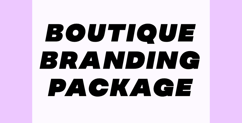 Boutique Branding Package
