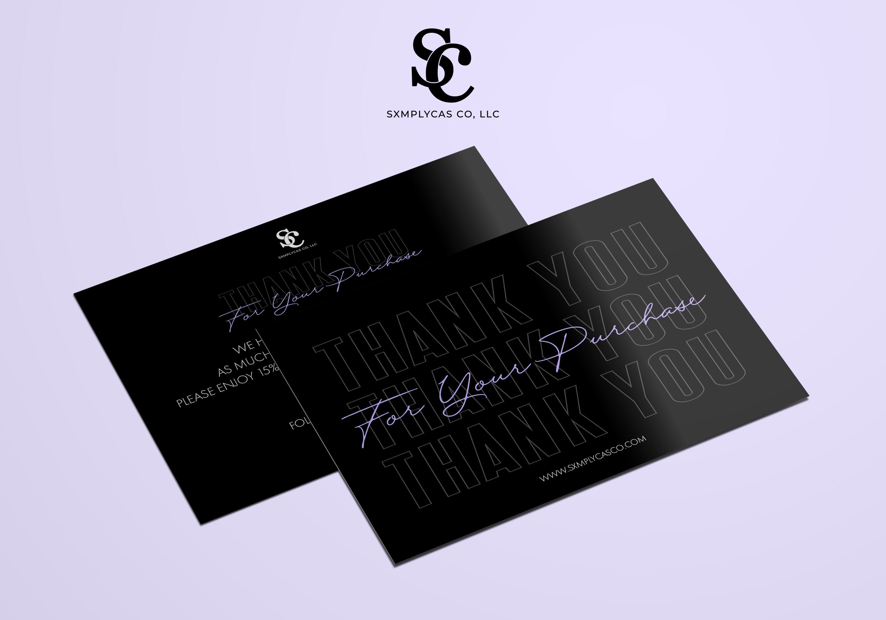 Thank you card mockup