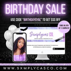 sxmplycas birthday sale flyer