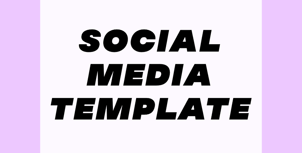 Custom Social Media Branding Template