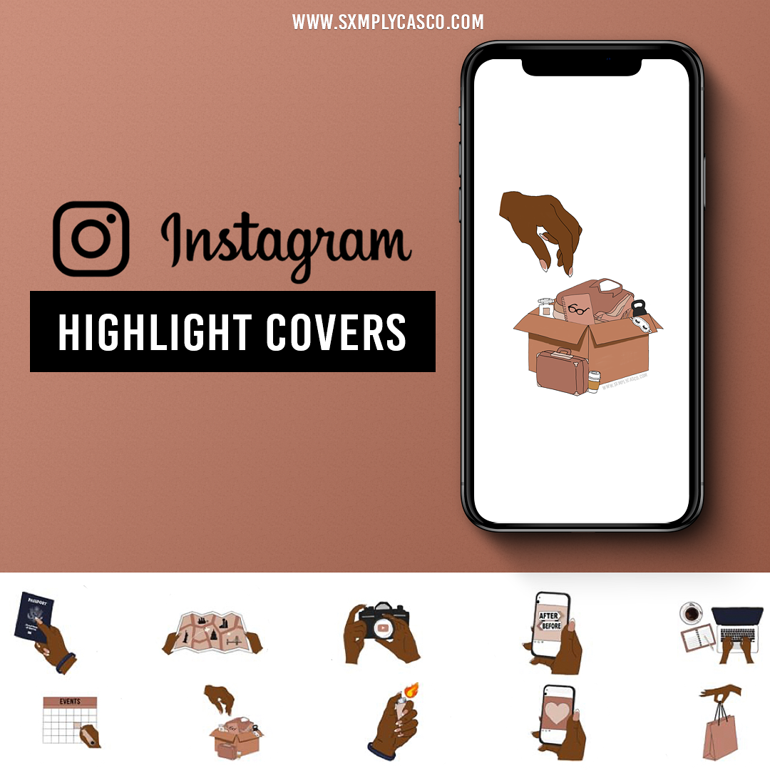 Oyin Highlight Covers Mockup