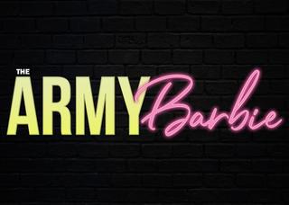 The Army Barbie Logo - Brick Background.