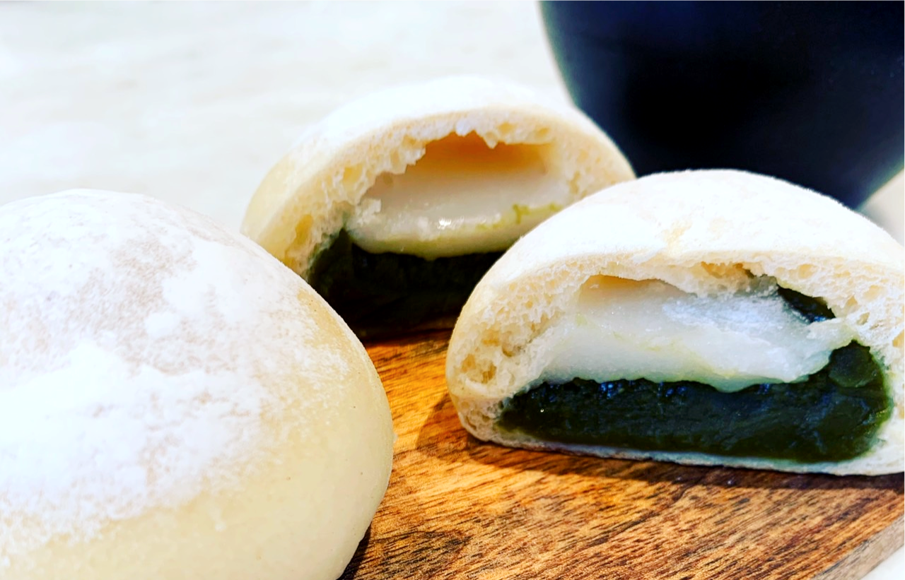 静岡抹茶白餡パン