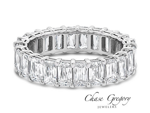 Triple Cut Diamond Eternity Band