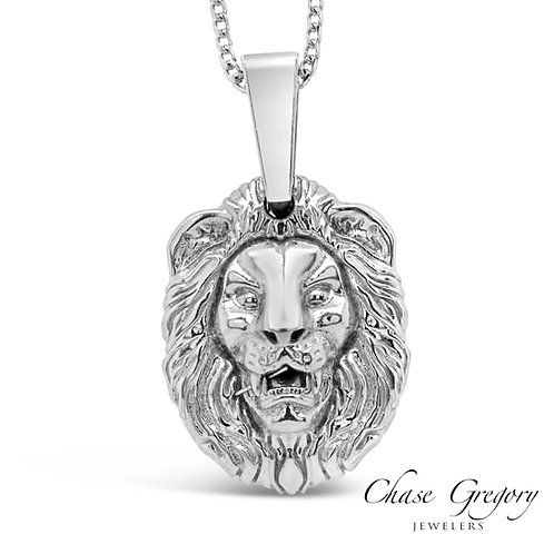 Small Lion Pendant Franco Chain