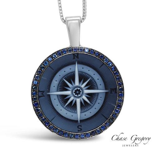 Sapphire Compas Pendant