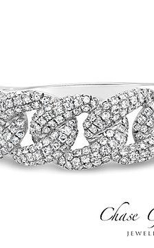Cuban Link Diamond Ring
