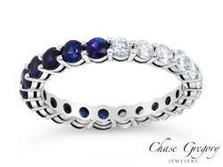 1/2 Sapphire 1/2 White diamond band.