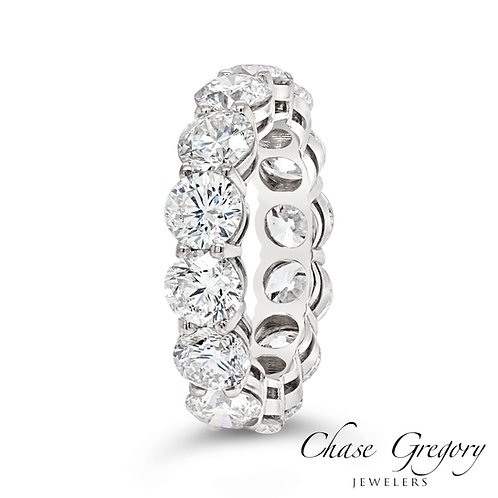 18kt Round Diamond Eternity Ring