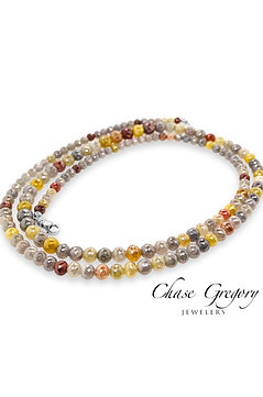 Multi Colored Diamond Necklace