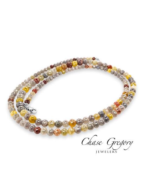 Multi Colored Diamond Necklace