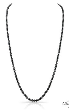 Black Diamond Beaded Necklace