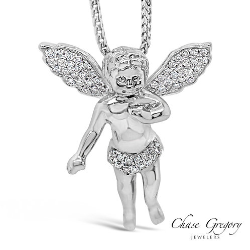White Gold Diamond Angel