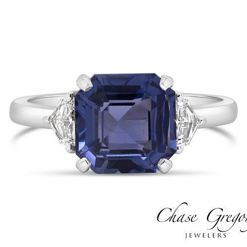 Violet Blue Sapphire Ring