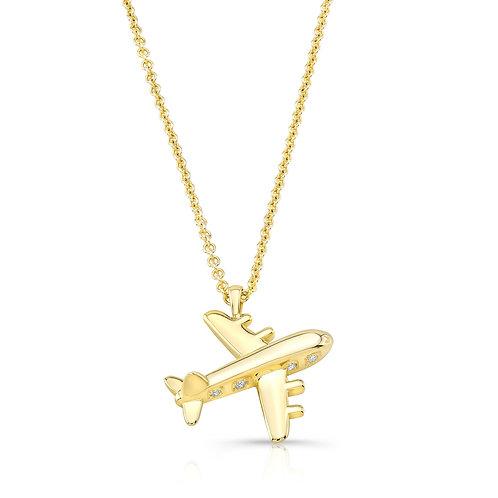 Travel Inspired Airplane Pendant