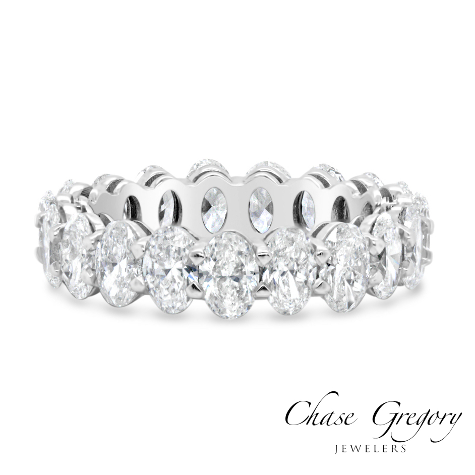 Oval Cut Eternity Ring
