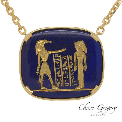 Lapis Egyptian Necklace