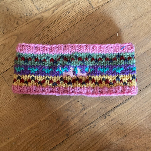 Wool Headband - Mad Pink Pattern