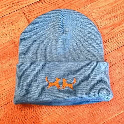 copy of Two Red Dogs Surf Blue Beanie