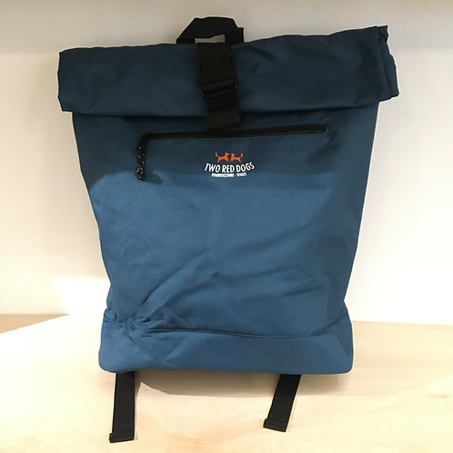 Recycled Roll Top Rucksack - Stormy Blue