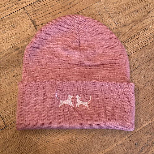 Two Red Dogs Dusty Pink Beanie