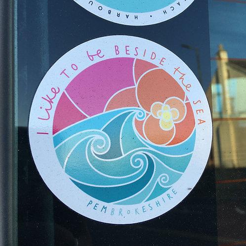 I like to be Beside the Sea Sticker