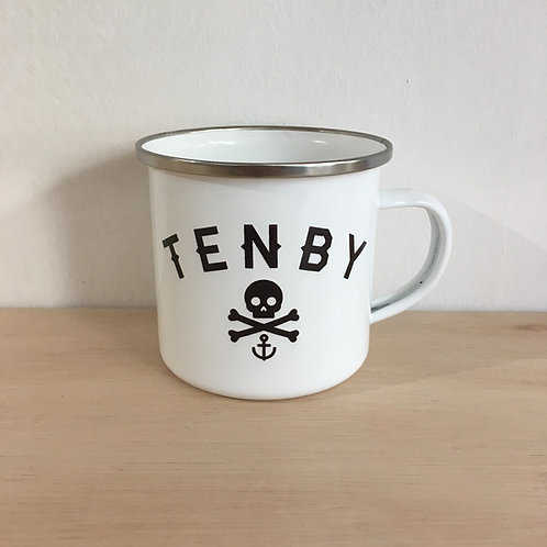 Enamel Mug - Tenby Pirate