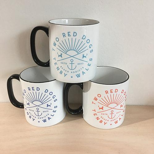 Ceramic Mug - Two Red Dogs Beach Addicts