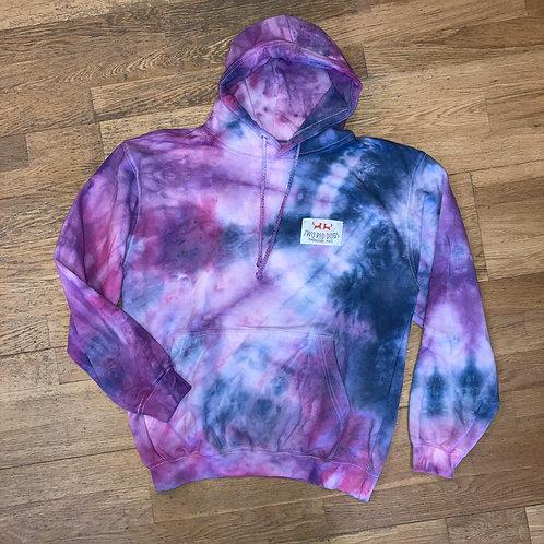 Purple Galaxy Tie Dye Hoodie