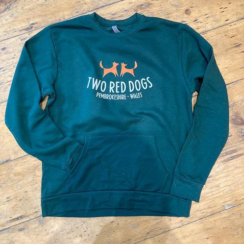 Two Red Dogs Logo Pocket Sweatshirt