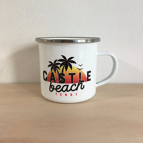 Enamel Mug - Castle Beach