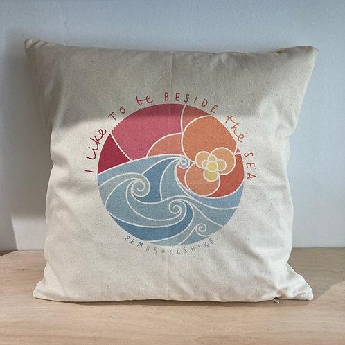 I like to be Beside the Sea Fairtrade Cushion