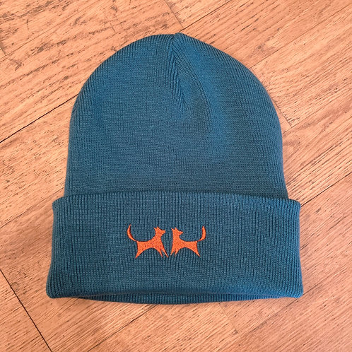 Two Red Dogs Teal Beanie