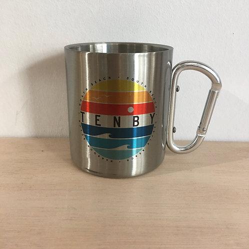 Tenby Circle Carabiner Mug