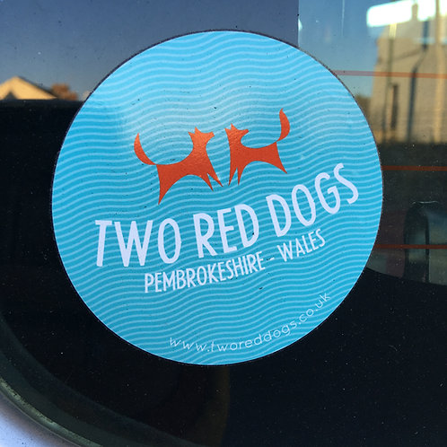 Two Red Dogs Logo Sticker