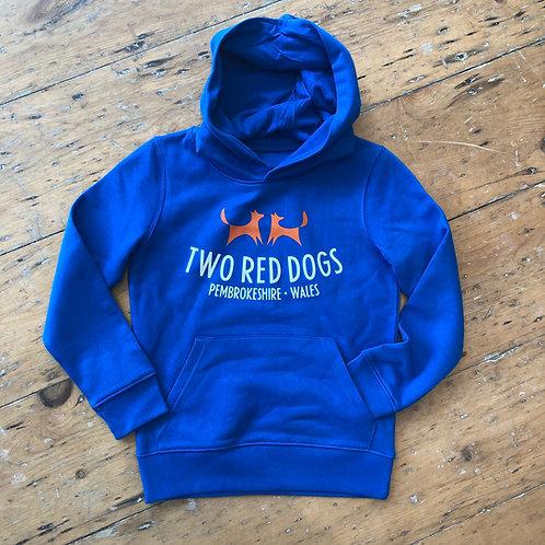 Kids Organic Two Red Dogs Hoodie
