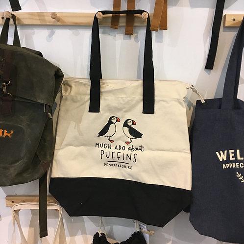 Much Ado About Puffins Beach Bag