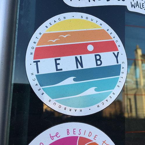 Tenby Circle Sticker