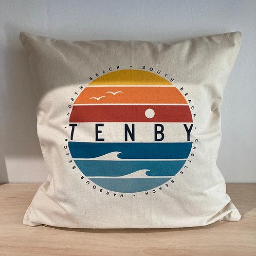 Tenby Circle Fairtrade Cushion