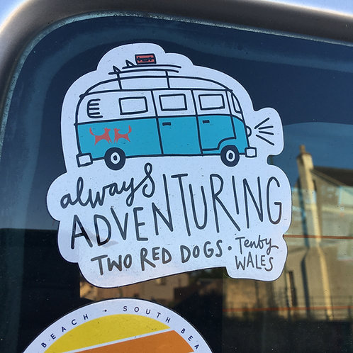 Always Adventuring Camper Sticker