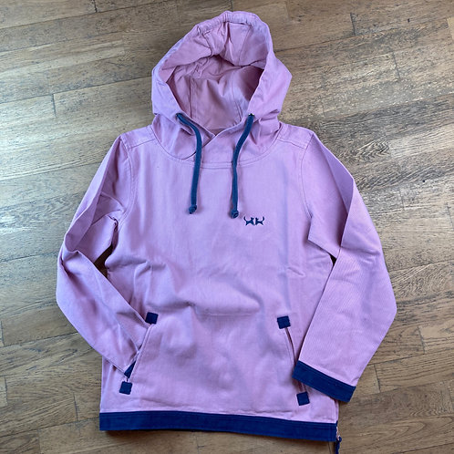 Two Red Dogs Sailcloth Hoodie - Rose Pink