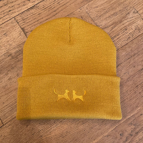 Two Red Dogs Mustard Beanie