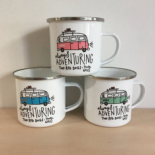 Enamel Mug - Always Adventuring Camper