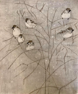 Birds by the snow