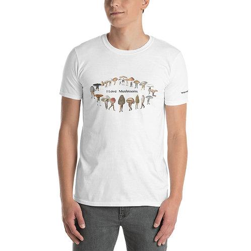 Temple Mushrooms I Love Mushooms Short-Sleeve Unisex T-Shirt