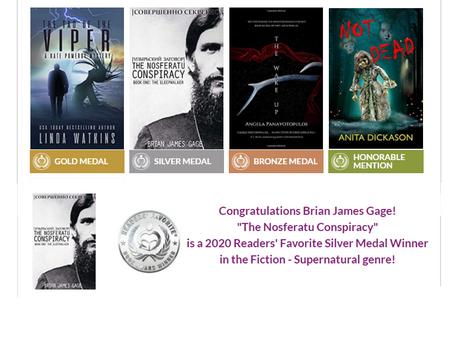 Silver Medal - Reader's Favorite 2020 Book Awards