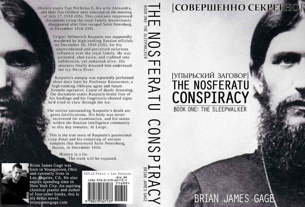Nosferatu Conspiracy, Book 1: The Sleepwalker, book cover