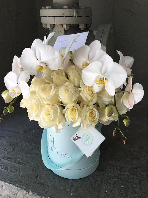 Classic White - Orchids & Roses