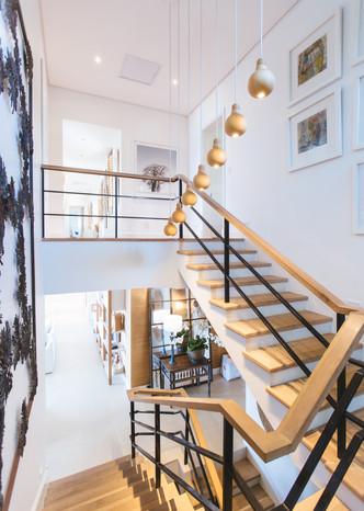 modern house stairwell
