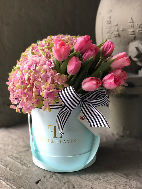 Passion for Pink! Hydrangeas & Tulips